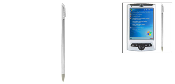 Aluminum Silvery Round Retractable Stylus for HP iPAQ 1700 Mobile