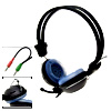 3.5mm Headphone Microphone Headset With Vol Control for Skype MSN...
