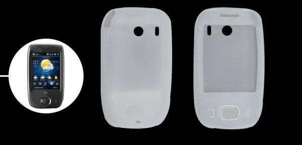 Silicone Skin Case Cover for Dopod Touch Viva T2222 Clearwhite
