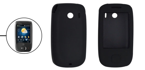 Black Silicone Skin Case Cover for Dopod Touch Viva T2222