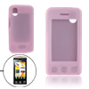 Pink Silicone Protector Skin Case Cover for LG KP500
