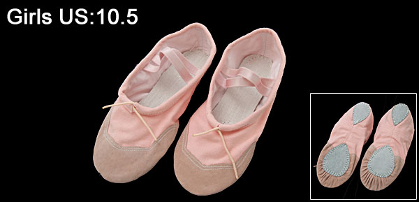 Pair Soft Pink ' Dancing Dance Ballet Shoes Size 12
