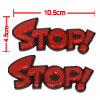 Red Stop Sign Adhesive Car Night Safety Reflectors Set Safe Parki...