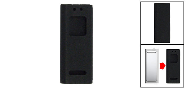 Mini Silicone Case Skin for Apple iPod shuffle 3rd Generation Gen MP3 Black