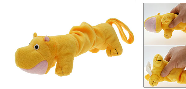 River Horse Plush Squeaky Toy Dog Pet Toy Yellow