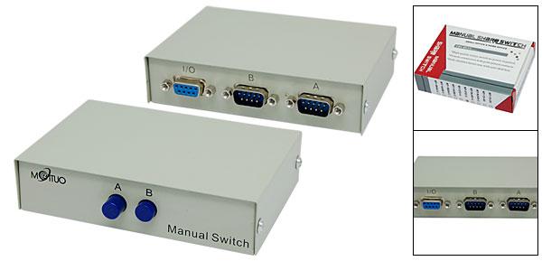 2 Way DB9 Male AB Data Handmade Share Switch Box 2 Ports