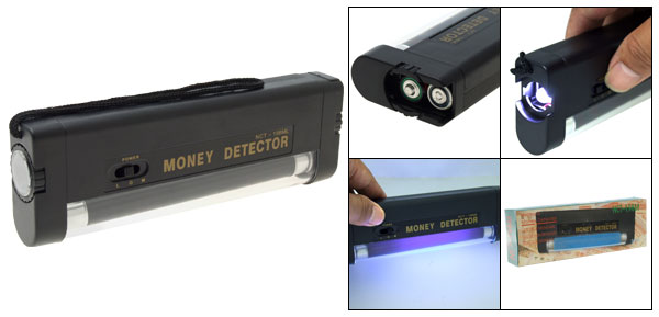 Pocket Purple Light Tube Counterfeit Money Detector Flashlight