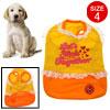 Lovely White Lace Orange Yellow Pet Puppy Dog Skirt Dress Shirts ...