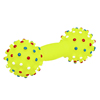 Yellow Dumbbell Shaped Dog & Cat Pet Squeaky Chew Toy