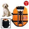 Size S Orange Reflective Pet Dog Apparel Swimming Saver Life Jack...