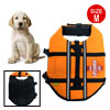 Orange Pet Puppy Dog Swimming Saver Preserver Life Jacket Vest Si...
