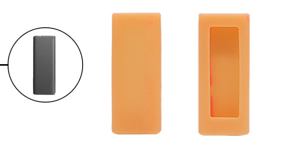 Silicone Skin for Apple iPod Shuffle 3rd 3 Gen Yellow