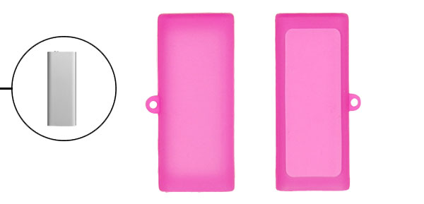Amaranth Pink Silicone Skin Cover for iPod Shuffle 3G 3rd