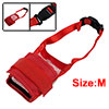 Anti Bark Chew Muzzle Red Soft Mesh for Pet Dog M