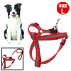 Dog Step-In Nylon Safe Reflective Harness and Leash Set-L