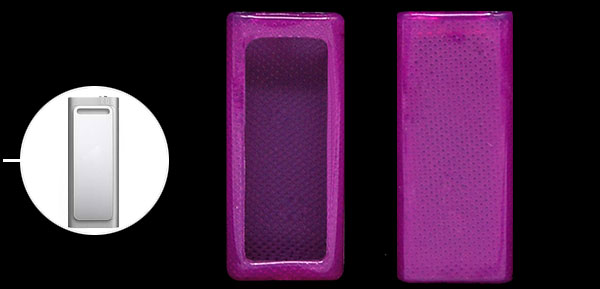 Purple Plastic Cover Shield Protective Case for Apple iPod Shuffle 3rd 3 Gen 4GB