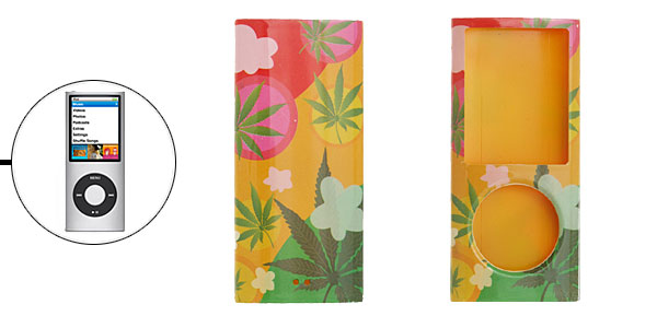 Colorful Leaves Plastic Case Cover for iPod Nano 4G 4th Gen