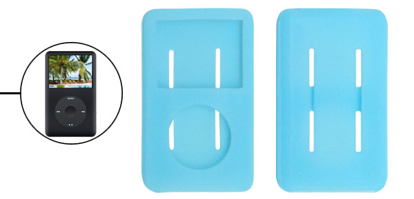 Blue Silicone Cover Case Skin for Apple iPod Classic 80GB