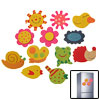 Animal Flower Fridge Wooden Magnets Paper Holder Set