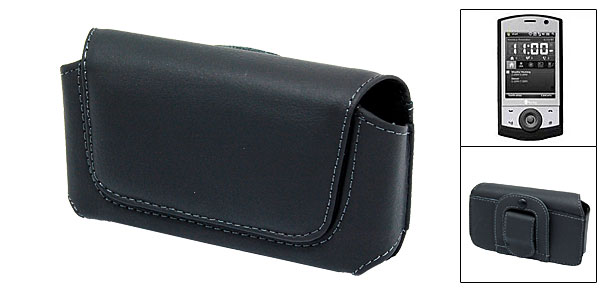 Black Clip Leather Case for HTC Touch Cruise 3.5G