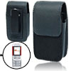 Magnet-clasped Black Leather Case Holder for Nokia 5300 Mobile Ph...