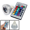 MR16 Remote Control 16 Color RGB LED High Power Studio Spotlight ...