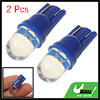 Two T10 1-LED Wedge Base Lamp Bulb Blue Light for 12V Car