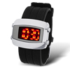 LED Men's Sports Watch with Black Soft Plastic Band