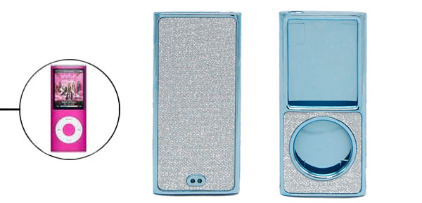 Sky Blue Glint Hard Plastic Case for iPod Nano 4th Gen