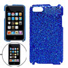 Blue Glittery Hard Plastic Case Shield for iPod Touch II