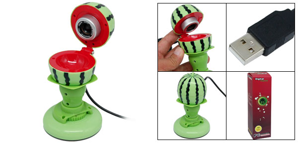 Watermelon Shaped Folding 8.0M Pixel USB 2.0 Web Cam PC Computer Camera