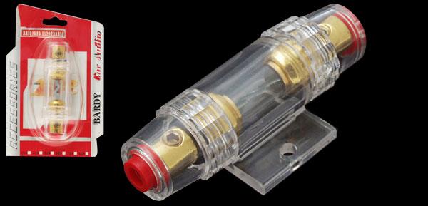 Inline AGU Fuse Holder Gold-tone for Car Amplifier