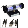 USB Laptop Speaker with Blue LED Light for iPod iPhone 3G Mp3