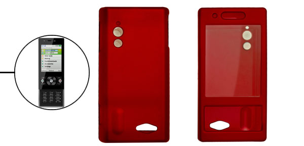 Crimson Plastic Case Rubberized Cover Protector for G705