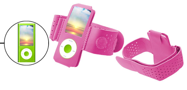 Pink Velcro Armband for iPod Nano Chromatic 4G 4th Gen