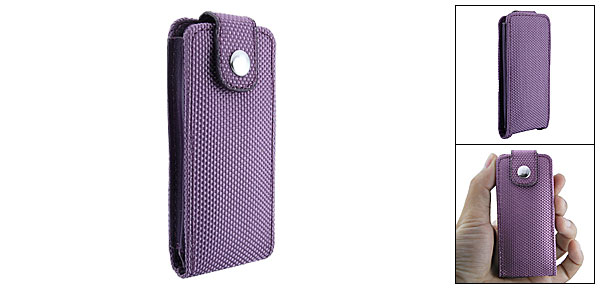 Purple Fabric Leather Case Pouch for iPod Nano 4th Generation 4G