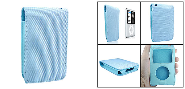 Leather Case Pouch with Fabric Cover for iPod Classic 80GB 120GB