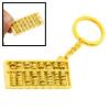 Golden Mini Abacus Metal Key Ring Chain Keychain