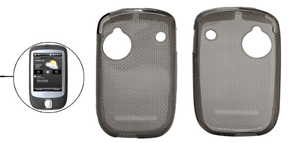 Grey Soft Plastic Case Cover Protector for Dopod S1