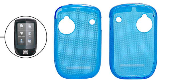 Blue Soft Plastic Nonslip Back Case Cover for Dopod S1
