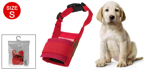 Size S Soft Mesh Pet Dog Muzzle Anti-Bark- Bite-Chew