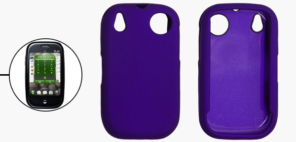Rubberized Hard Plastic Case Cover Blue for Sprint Palm Pre