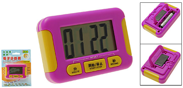 Mini Portable LCD Digital Second Minute Count Down Timer
