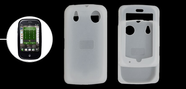 Silicon Skin Case Shell for Palm Pre Clear White