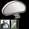 White Wide Angle Car Viewing Blind Spot Mirror