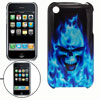 Black Rubberized Plastic Hard Back Cover Case for iPhone 3G