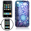 Hard Plastic Flower Pattern Back Case Cover for Apple iPhone 3G