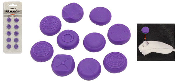 Purple Silicone Button Case Cap for Nintendo Wii Controller Stick