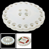 Plastic Flower Style 24 LED Camping Night White Light