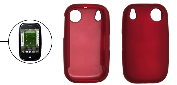 Red Protective Plastic Cell Phone Shell for Plam Pre